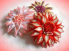 Красивые цветы канзаши из узкой ленты 0,6 см, МК Лерита - YouTube