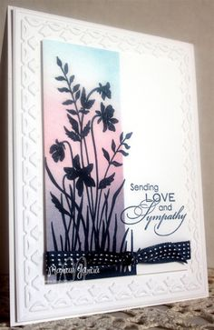 Sympathy CARD, cQc187 by Studio M - Cards and Paper Crafts at Splitcoaststampers