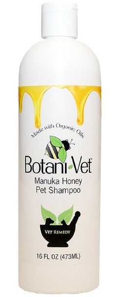 BotaniVet Certified Organic Manuka Honey Pet Shampoo 16 Oz - 100% Natural Ingredients - Veterinary Dermatologist Formulated for Allergies and Itching * Don't get left behind, see this great dog product : Dog Grooming