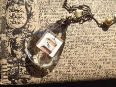 Reclaimed chandelier crystal