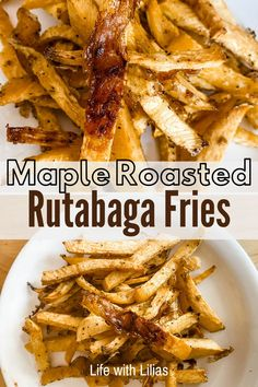 Wow - check out these awesome rutabaga fries recipe! Maple roasted rutabaga fries are a yummy twist on rutabaga fries. Clean Eating Recipes For Dinner, Clean Eating Meal Plan, Clean Eating Snacks, Healthy Snacks, Dinner Recipes, Clean Eating For Beginners, Recipes For Beginners, Roasted Rutabaga, Family Meal Planning