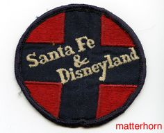 Disneyland Santa Fe Railroad Hat Patch