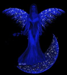 """Angels come in diff colors this 1 is """"blue"""""""