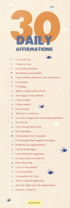 Save these 30 daily affirmations for positive words to remember just how special you are.