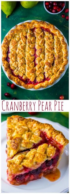 You'll impress everyone with this delicious Cranberry Pear Pie!