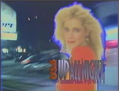 """Rhonda Shear on the USA Network's """"Up All Night"""".  It was a late-Friday night movie show..."""