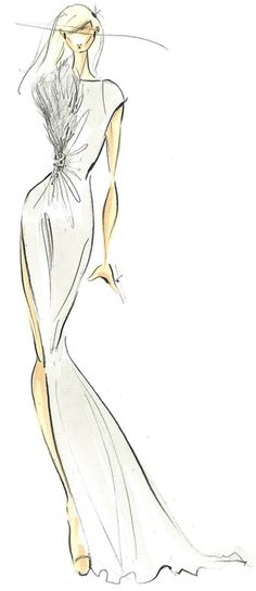 Pamella Roland sketch from F/W 13
