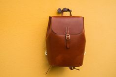 """Handmade leather backpack. This is our small version of """"Amicus"""" backpack. Perfect companion for a night out. Ladies backpack. Leather backpack for girls."""