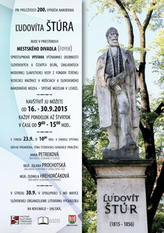 Miestna akčná skupina - MAS LEV : 200. výročie narodenia Ľudovíta Štúra