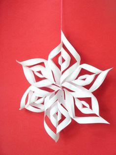 DIY 3D Paper Snowflakes - Bead&Cord