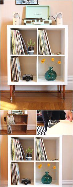 209 best vinyl record storage ideas images vinyl records vinyl record storage lp storage. Black Bedroom Furniture Sets. Home Design Ideas