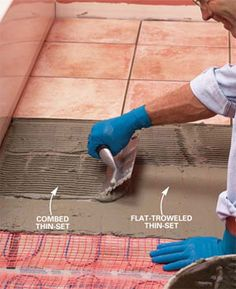 How to install in-floor heat. This will be done in my bathroom when I eventually own a house!