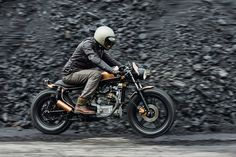Love the caption below, very cool bike (diggin' the copper and black).  dithread:  Brap