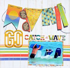 Go Catch A Wave by Madeline Fox. Papers from Carta Bella's Beach Day collection.