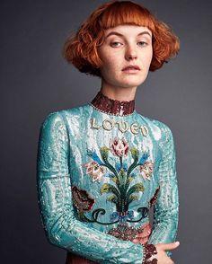 いいね!88.4千件、コメント356件 ― Gucciさん(@gucci)のInstagramアカウント: 「For the May issue of @voguemagazine, @kacyhill wears an all-over sequin embroidered tulle dress…」