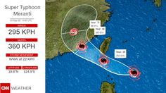 09/12/2016 - Category 5 Super Typhoon Meranti targets Taiwan, mainland China