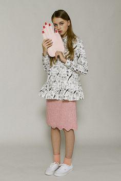 Scallop Mini Skirt Pink