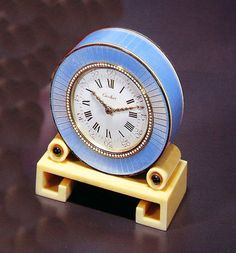 Antique Cartier table clock, from the London workshop of Anthony Gray.