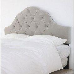 Beds/Headboards - UrbanOutfitters.com > Velvet Tufted Headboard-Light Grey - gray headboard, gray headboard, velvet tufted headboard, gray tufted headboard, gray tufted headboard