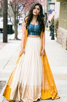 Latest Jacket Style Lehenga Designs - Will Catch Everyone's Attention - Designer Dresses Couture Indian Wedding Outfits, Indian Outfits, Indian Clothes, Indian Attire, Indian Wear, Jacket Lehenga, Indian Gowns Dresses, Bridal Dresses, Lehnga Dress