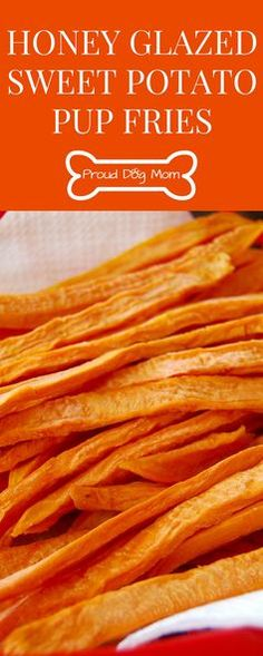 Homemade Honey Glazed Sweet Potato Pup Fries
