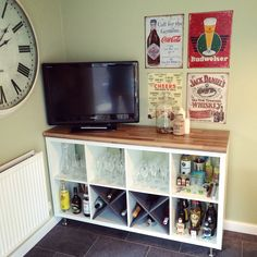 Our DIY bar, IKEA Kallax hack