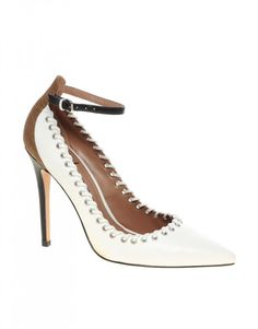 christian louboutin pigalle spiked patent red sole pump chalk