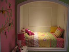 Girls built in double bed