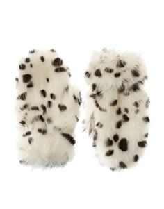 Dalmation style mittens - these would make my cape-coat-poncho complete
