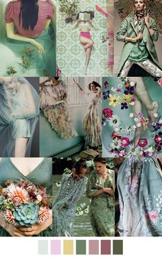 F/W 2017-18 pattern & colors trends: SAGE GARDEN                                                                                                                                                                                 More