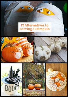 Don't want to get messy with pumpkin seeds and pulp? Here are 17 alternatives to carving a pumpkin, just in time for Halloween!