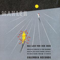 Walter, Vienna Philharmonic Orchestra-Mahler: Das Lied von der Erde, Label: Columbia MM-300(1943)Design Alex Steinweiss.