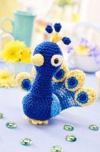 Peacock - 5 Free Cute Amigurumi Patterns oombawkadesigncrochet.com