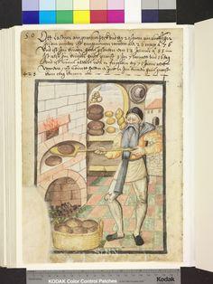1585 baker or miller with bread and pretzels  Die Hausbücher der Nürnberger Zwölfbrüderstiftungen