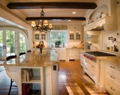 Interior Design, Kitchen I'd love it more with a dark mahogany wood for cabinets instead of white.