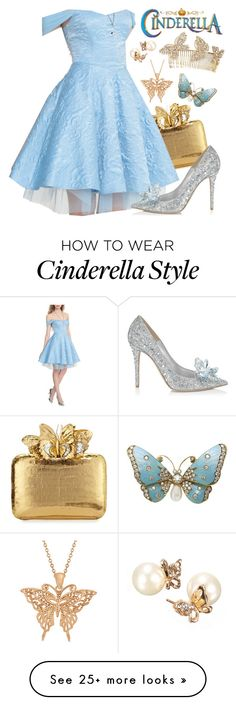 """Day 15: Your Favorite Dress"" by itsactuallyvictoria on Polyvore featuring Nancy Gonzalez, Disney, Jimmy Choo, Jennifer Behr and Allurez"