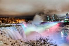 Illuminating the frozen Niagara Falls by Peicong Liu- I loved the view of this at night.  It was so breathtaking to be in Canada overlooking the falls.