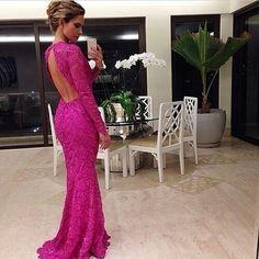 long sleeve evening dress #evening #prom #dress
