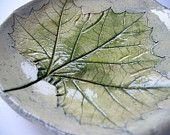 Black Oak Leaf Ceramic Catch All Dish (No 71). $15.00, via Etsy.
