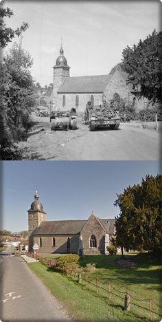 Truppe Alleate  passano  attraverso il villaggio di St Honorine-la- Chardonne     #NORMANDIA1944