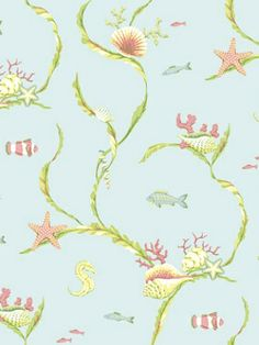 DecoratorsBest - Detail1 - YO AC6002 - SEA LIFE TRAIL - AC6002 - Wallpaper - DecoratorsBest