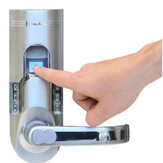 Fingerprint door lock offers maximum protection for yourself and your loved ones Single-latch tubular model offers sliding front cover to protect optical sensor Stores up to 150 fingerprints and 78 pa