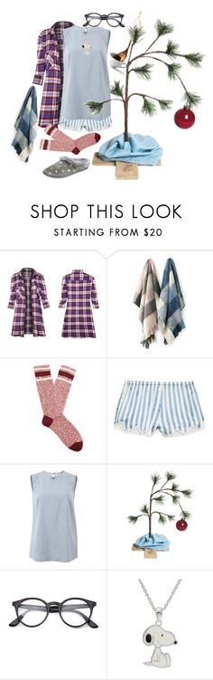 """""""Xmas is exhausting if you do it right."""" by millarca ❤ liked on Polyvore featuring Oake, Burberry, Morgan Lane, Brunello Cucinelli, Charter Club, Christmas, sleep, pajamas, christmastree and fashionset"""