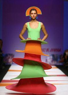 The desginger Agatha Ruiz De La Prada Fashion show for the spring/summer collection 2009 during Milan Fashion Week. Phoebe Price was in...
