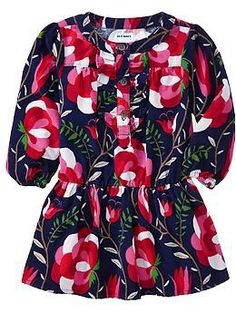 Nora: Size 18-24 mth  Ruffled Floral-Print Cord Dresses for Baby | Old Navy