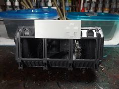 Guardia Imperial 40k, Container Shop, Shipping Containers, Warhammer 40000, Gw, Diorama, Scenery, Shops, Games