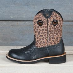 Ariat Ladies' Leopard Fatbaby Boots