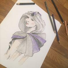 Unique design for a unique costumer :) #fashion #art #fashiondesigner #fashionillustration #costume #costumedesigner #highfashion #personaldesigner