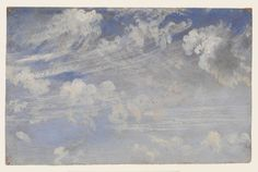 John Constable, Study of Cirrus Clouds, c.1822, Victoria and Albert Museum