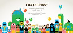 Free shipping & gift packaging thru 12/14  weesociety.com
